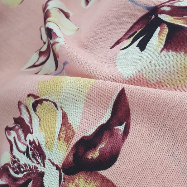 Viscose Linen Printed 150cm - 01