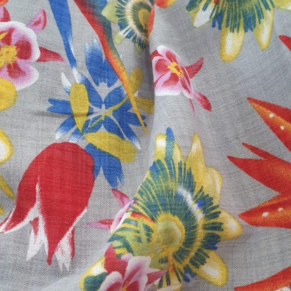 Viscose Linen Printed 150cm - 02