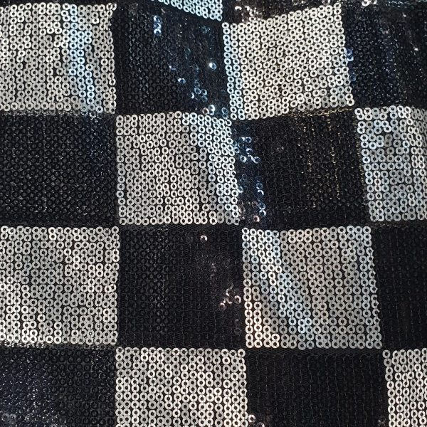 Spangle Tulle Check 150cm - 01