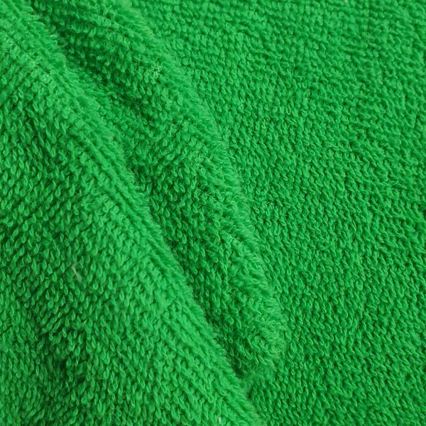 Cotton Towelling - Apple Green