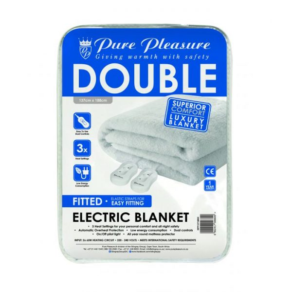Fitted Coral Fleece (Queen) - Electric Blanket