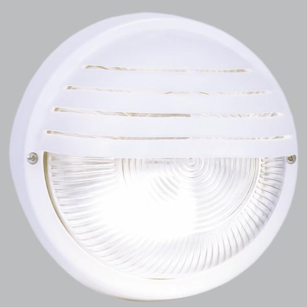 Round Eyelid PVC Bulkhead - White