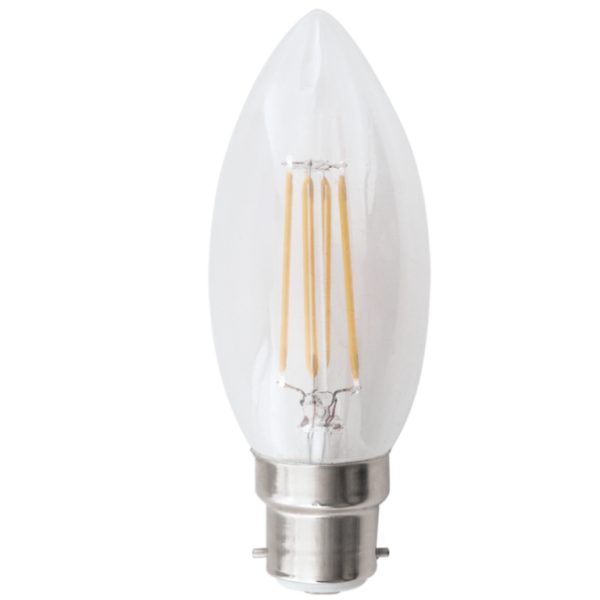 Candle Bulb 4.5W B22 Dimmable Cool White
