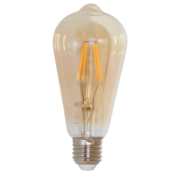 ST64 Led Filament Bulb 6W Dimmable Warm White