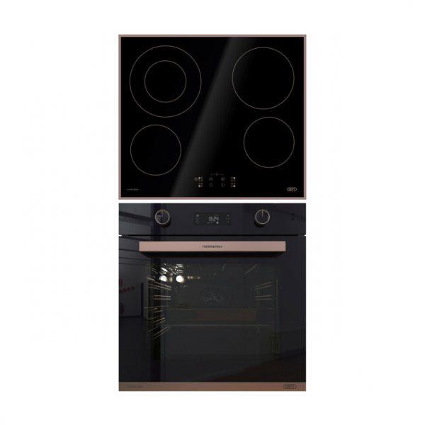 Defy Rose Gold Oven & Hob Set - DCB115